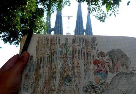 sketching the sagrada familia
