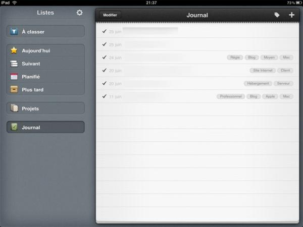 ipad  Mes applications iPad