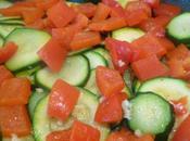Tarte fine saumon courgette poivron