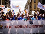 Manifestation Syndicat Force Ouvrière Pénitentiaire, Paris.
