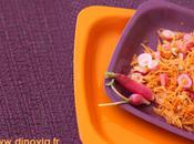 Salade carottes assiette réutilisable DISCO