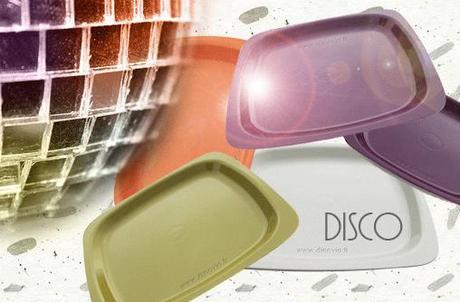 Assiette couleur Disco