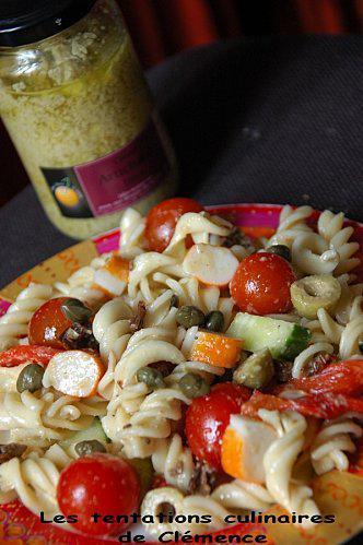 salade de pâte crème d'artichauts& olive
