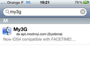 My3G : FaceTime en 3G (JB)