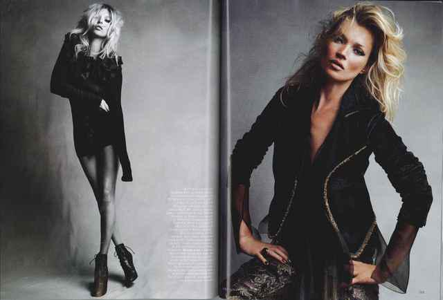 ♠ Kate Moss en couverture du Vogue UK septembre 2010 : photos par Demarchelier ♠