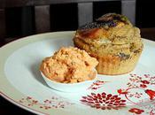 Cupcake salé chaudron magique accompagné d'une glace tomate-chèvre