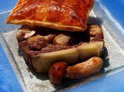Millefeuille boeuf cèpes foie gras