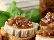Crostini chèvre chutney épicé figues l'orange