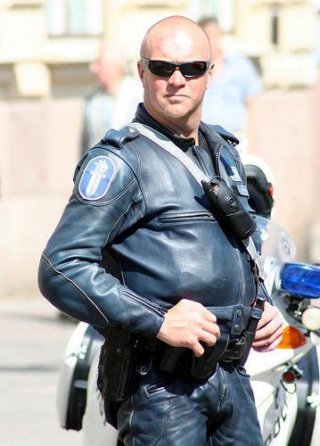 Mr Police Man in Leather