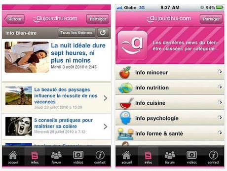 Aujourd'hui.com infos sur iPhone...