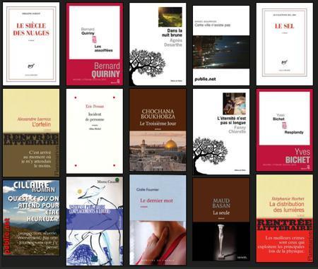 La rentrée littéraire sur ePagine