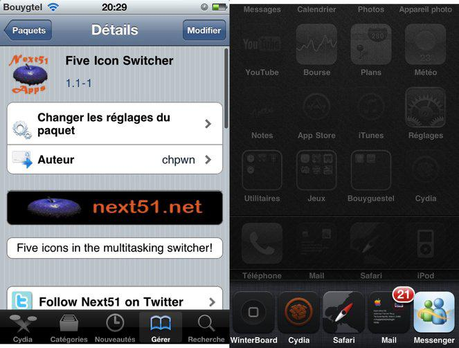 Five Icon Switcher...