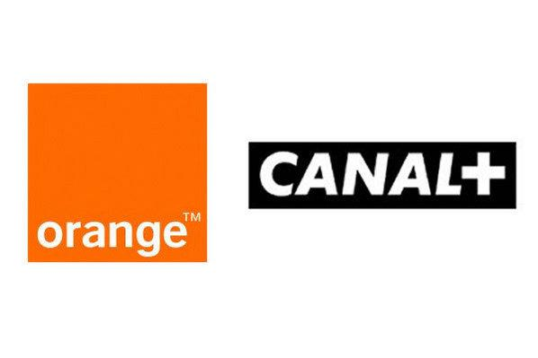 Photo : Les logos d'Orange et de Canal+.Canal+.