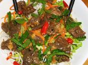 salade thaï vermicelles bœuf mariné grillé