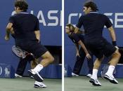 Roger Federer sert spéciale l'US Open Tennis