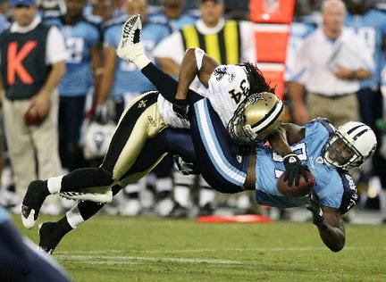 NO Saints 24 - 27 Tennessee Titans.