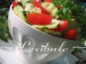 Salade concombre épicée