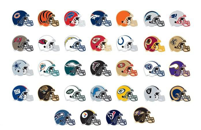All NFL Helmet Pins