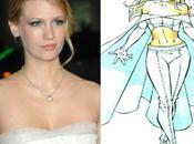 X-Men: First Class -tournage: January Jones Reine Blanche