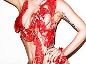 Lady Gaga couverte viande pour Vogue