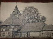 Jules Klippstiehl, artiste alsacien dessine Hoenheim