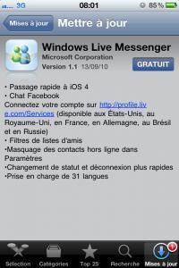 WLMessenger pour iphone passe en 4.1