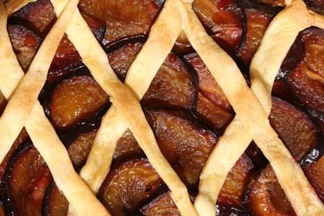 Damson plum pie tarte quetsches
