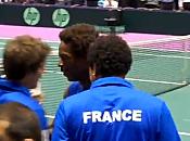 Coupe Davis Vidéo joie Gaël Monfils (17/09/2010)