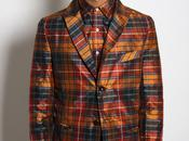 DALTON Silk Tartan Single Breasted Jacket
