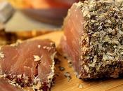 Filet porc séché parmesan, basilic