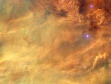 eaux tumultueuses nébuleuse Lagune photographiées télescope Hubble