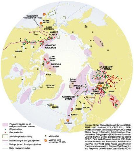 Industrial development in the Arctic (map/graphic/illustration)