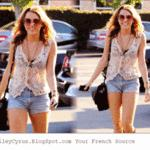 Miley Cyrus leaves Chuck's Vintage store around Melrose ... on Twitpic
