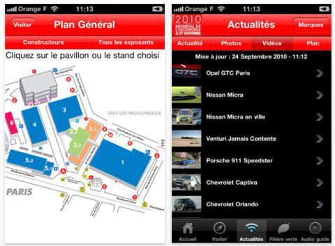 Le Mondial de l'Auto 2010 a son appli iPhone