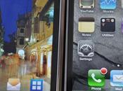 Comparatif écrans iPhone Galaxy Nexus Droid...