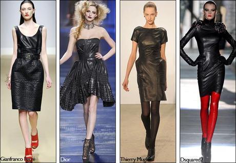 Focus sur la robe en cuir