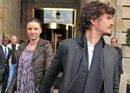 Miranda Kerr & Orlando Bloom à Paris !