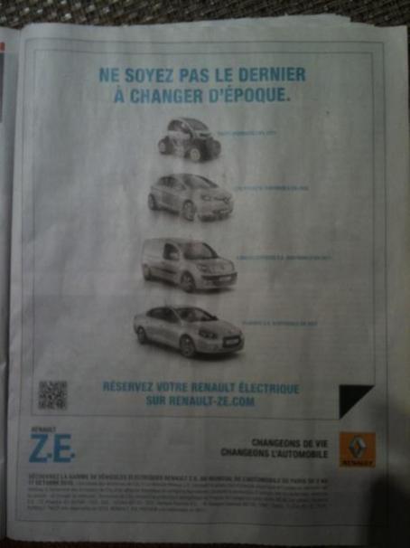 QRCode et Renault : l'utilisateur mobile est ignoré !