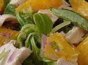Salade mâche poulet menthe