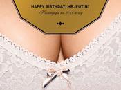 calendrier sexy pour l'anniversaire Vladimir Poutine