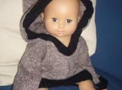 Tricoter pull capuche pour bébé.