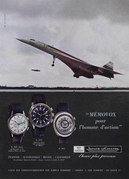 Publicite Jaeger-LeCoultre Memovox 1970 Environ