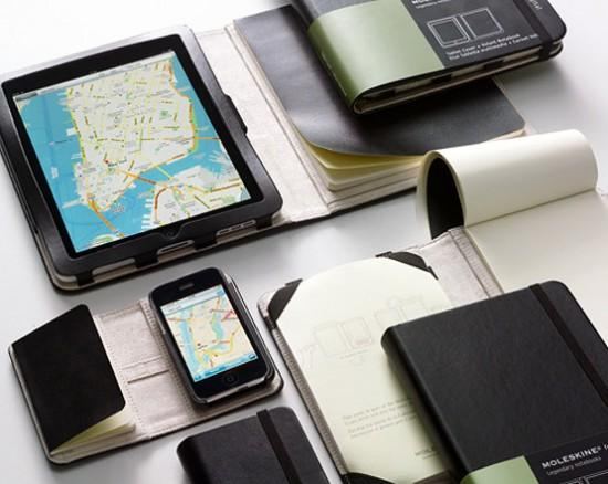 Image moleskine iphone ipad covers 550x438   Étuis Moleskine iPhone et iPad