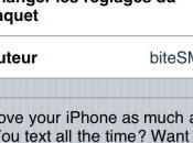 BiteSMS Remplacer l'application Message votre iphone compatible