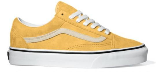 vans jaune claire femme