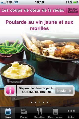 Application Iphone TeleStar Cuisine