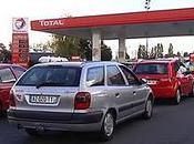 Lundi noir Pénurie d'essence, station