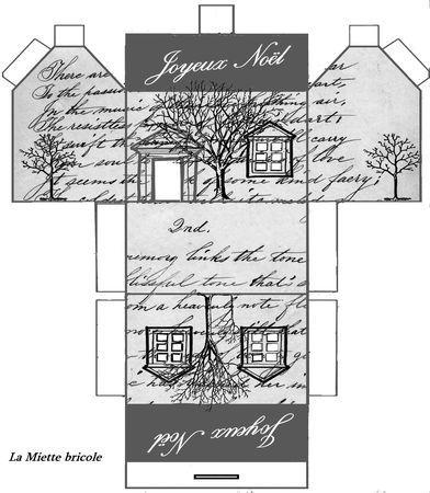 Petite maison de no l imprimer paperblog - Petite maison de noel decoration ...