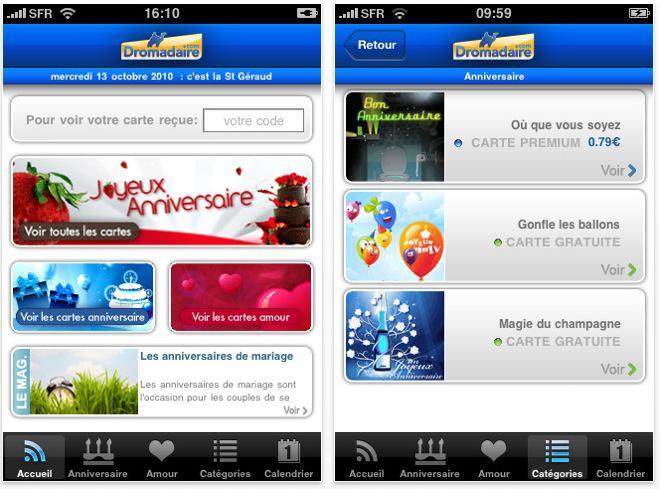 Dromadaire Envoyez Vos Cartes Virtuelles Depuis L Iphone A Voir