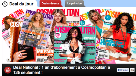ClubDeal : 1 an à Cosmo pour 12 €